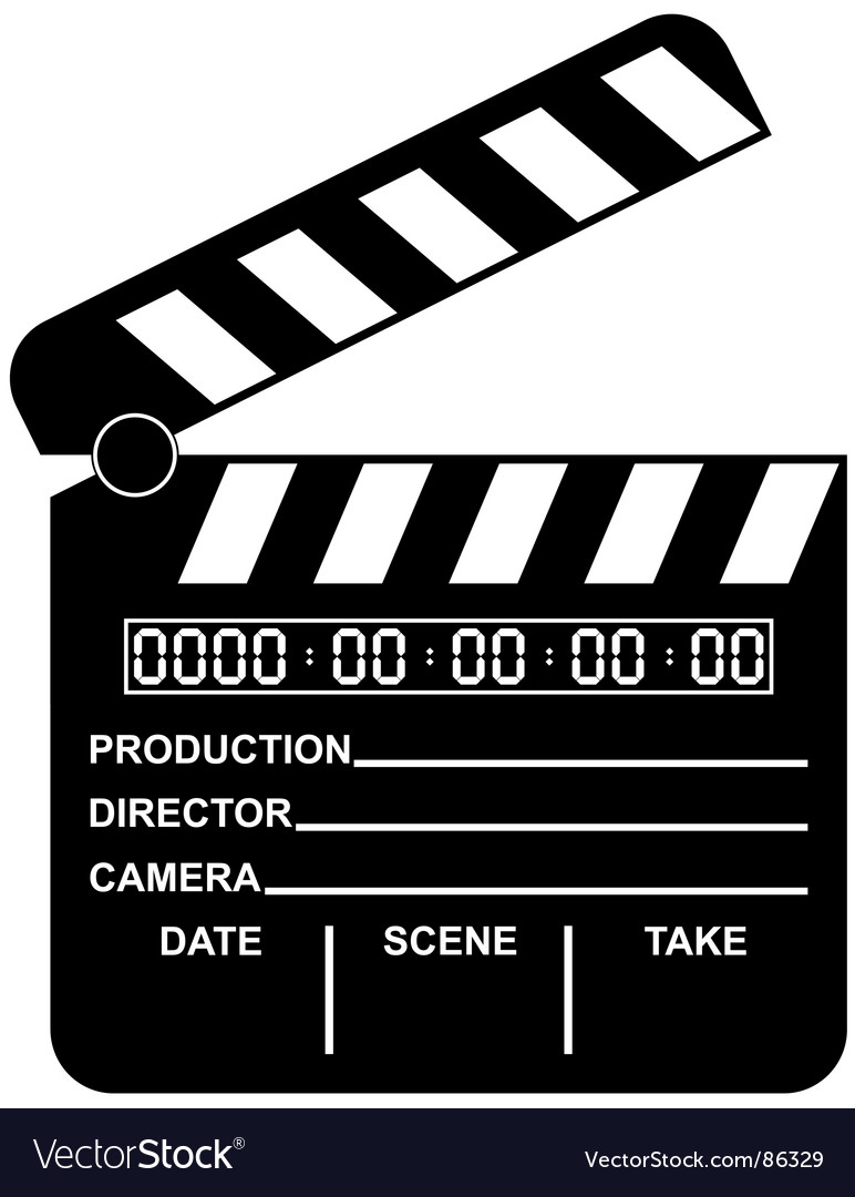Digital movie clapboard vector | Price: 1 Credit (USD $1)