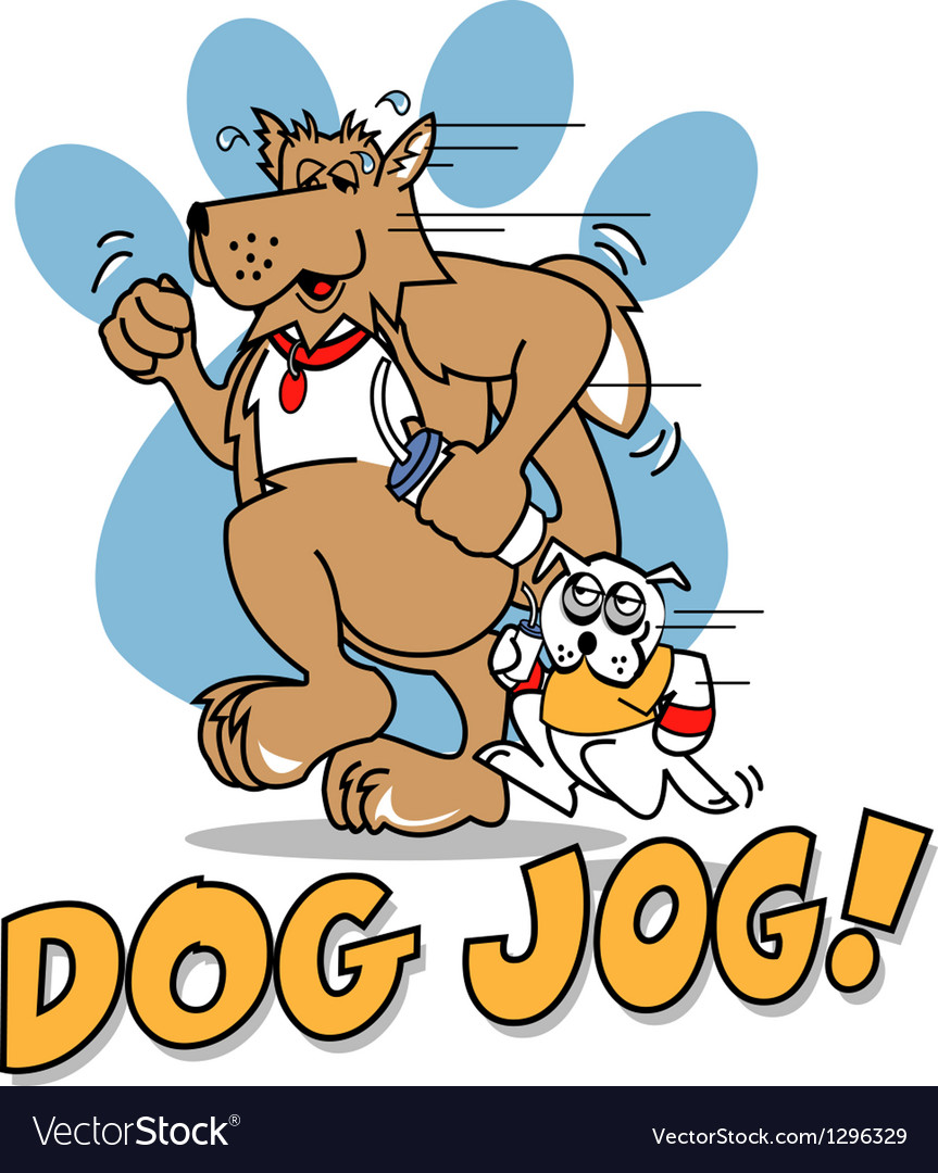 Dog jog vector | Price: 1 Credit (USD $1)