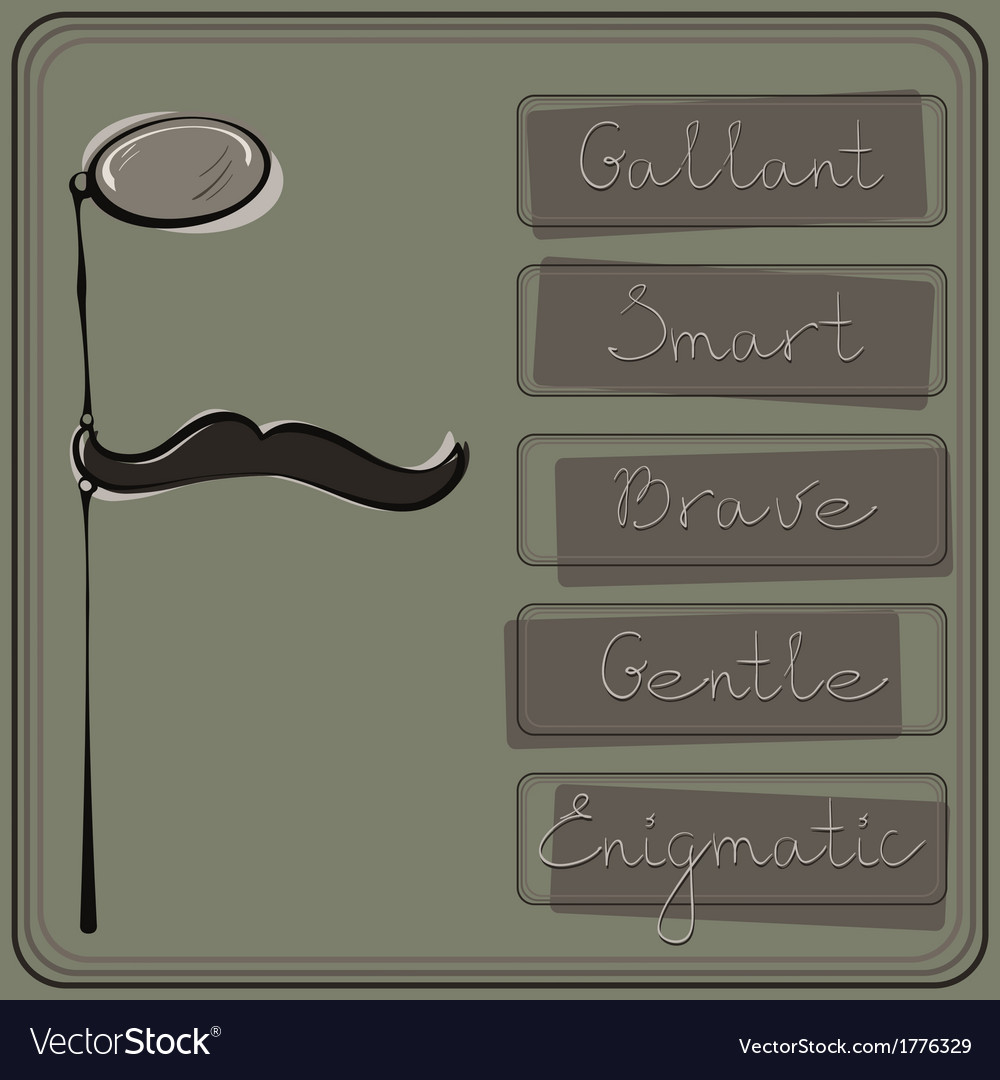 Hipster monocle and mustache vector | Price: 1 Credit (USD $1)