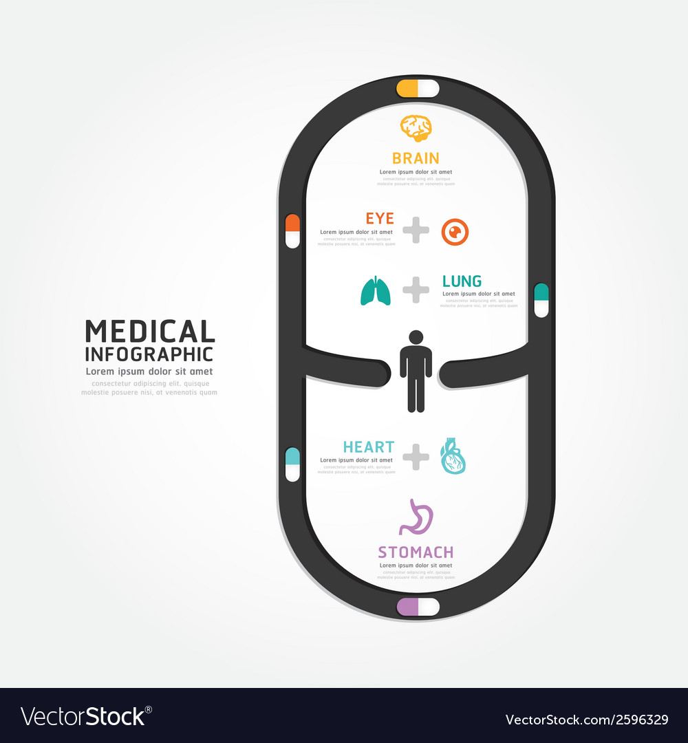 Infographics medical capsule design vector | Price: 1 Credit (USD $1)