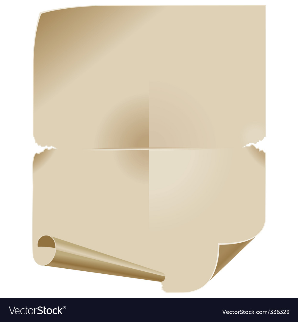 Old paper scroll vector | Price: 1 Credit (USD $1)