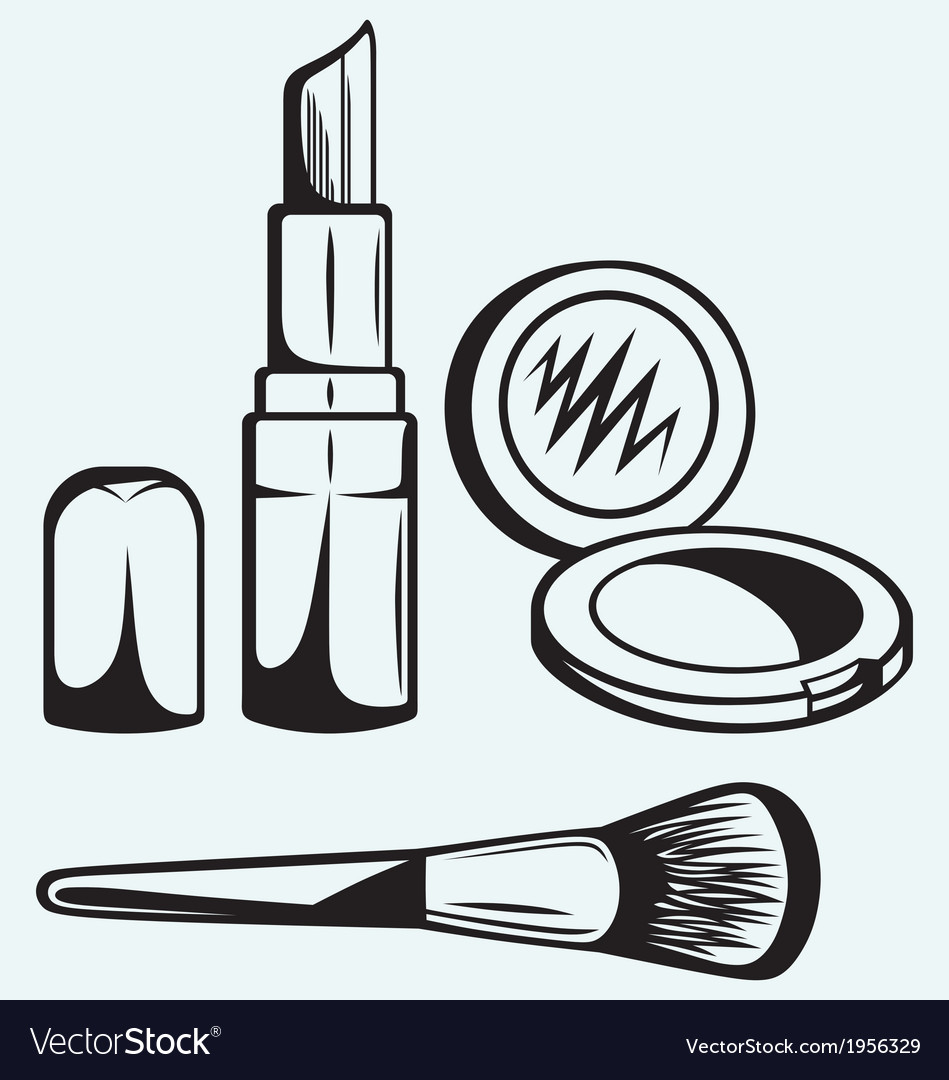 Various cosmetics vector | Price: 1 Credit (USD $1)