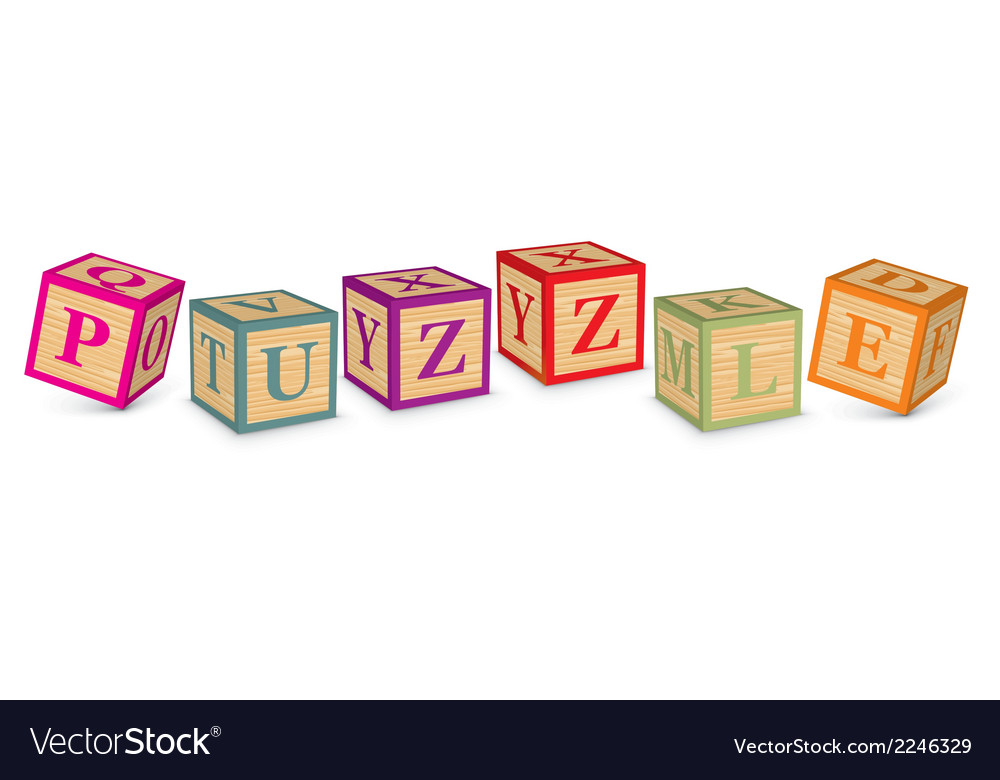 Word puzzle written with alphabet blocks vector | Price: 1 Credit (USD $1)