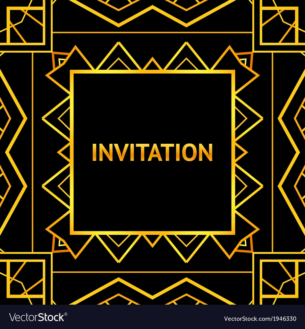 Art decor invitation card in vintage style vector | Price: 1 Credit (USD $1)