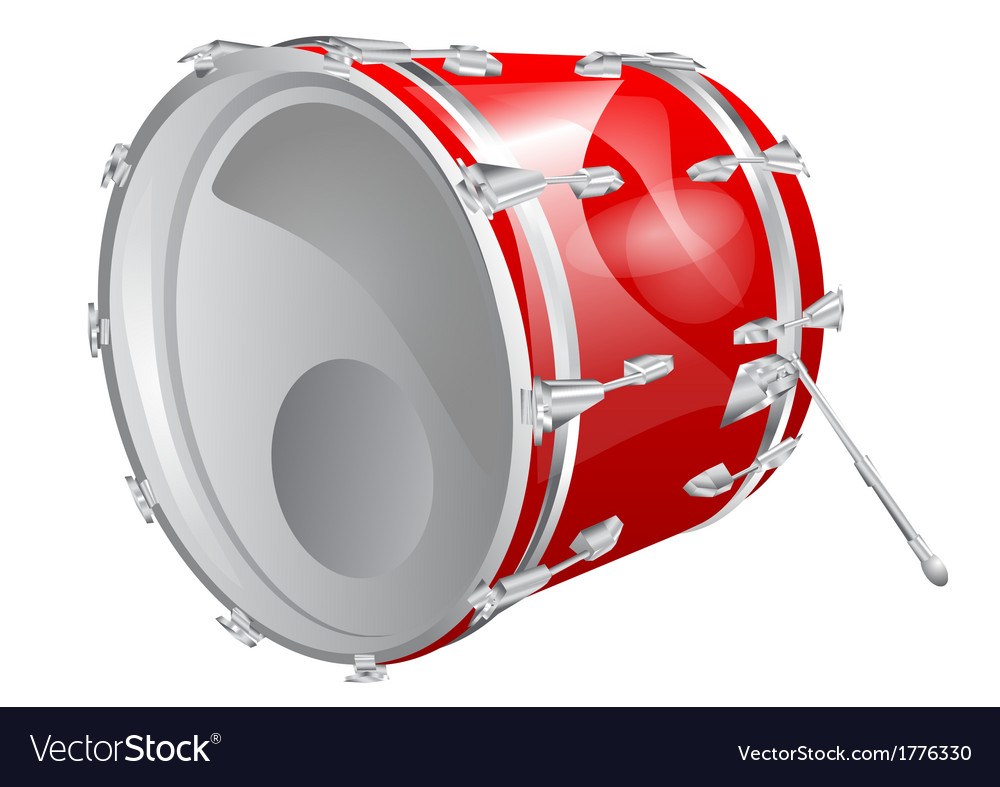 Bass drum vector | Price: 1 Credit (USD $1)
