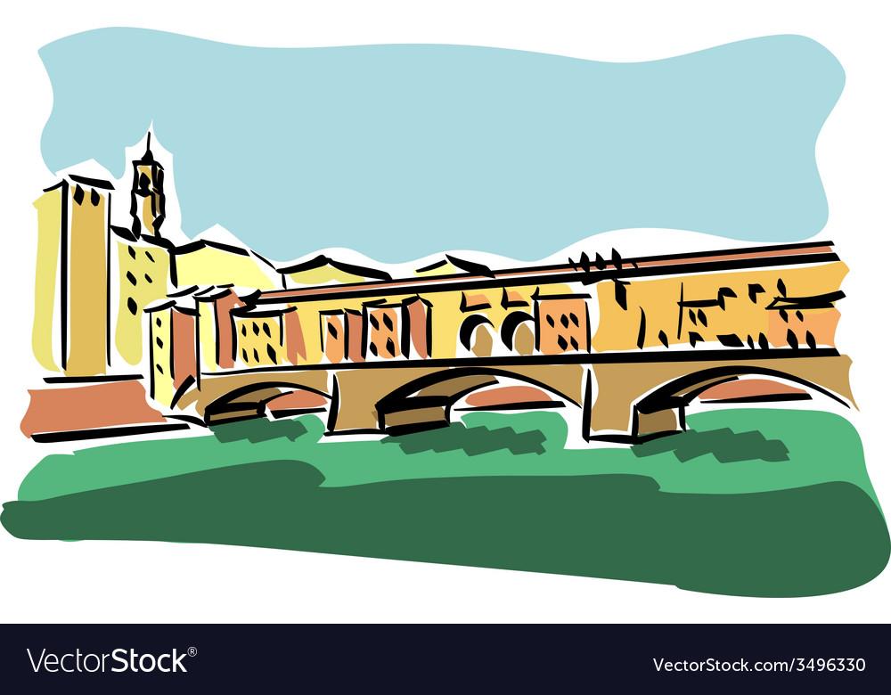 Florence ponte vecchio vector | Price: 1 Credit (USD $1)