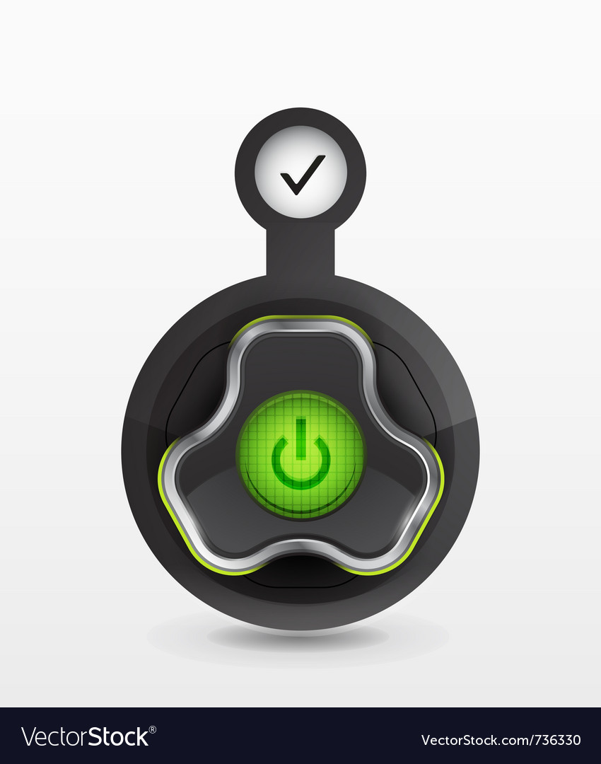 Power button - icon vector | Price: 1 Credit (USD $1)