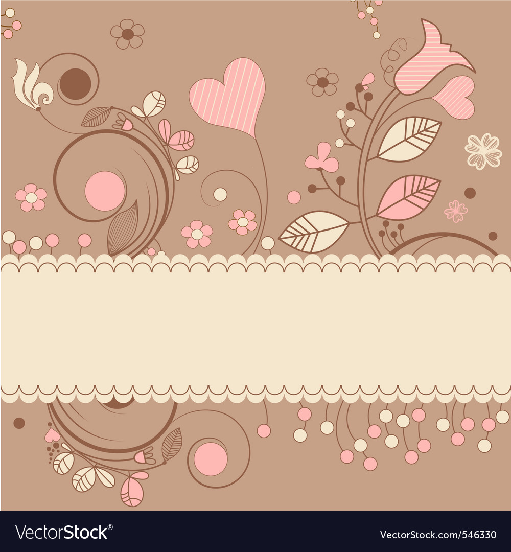 Romantic gift card vector | Price: 1 Credit (USD $1)