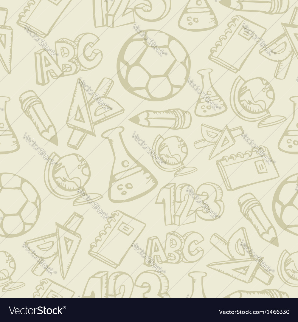 School supplies seamless pattern vector | Price: 1 Credit (USD $1)