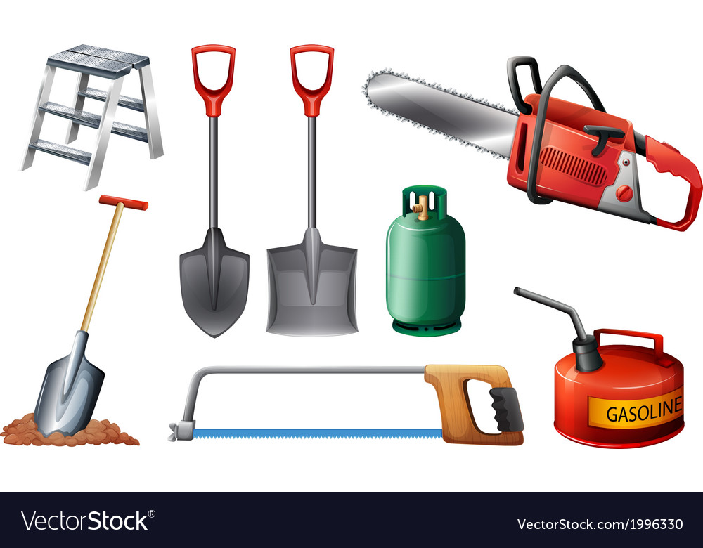 Set of important tools vector | Price: 1 Credit (USD $1)
