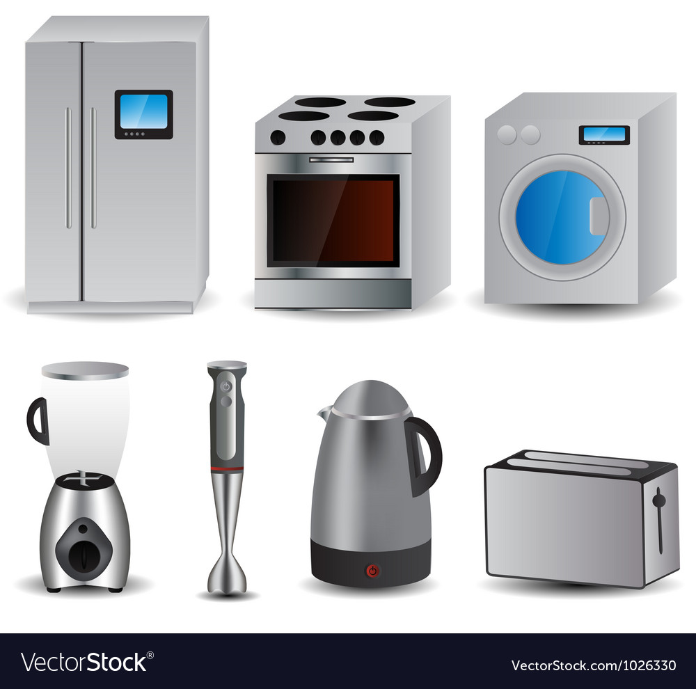 Set of of household appliances vector | Price: 1 Credit (USD $1)