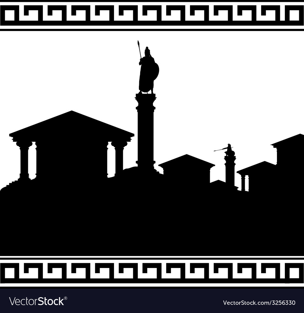 Silhouette of ancient city vector | Price: 1 Credit (USD $1)