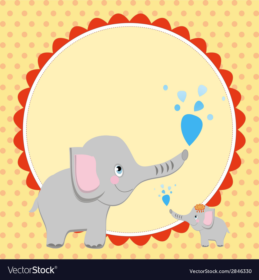Smart card with an elephant vector | Price: 1 Credit (USD $1)