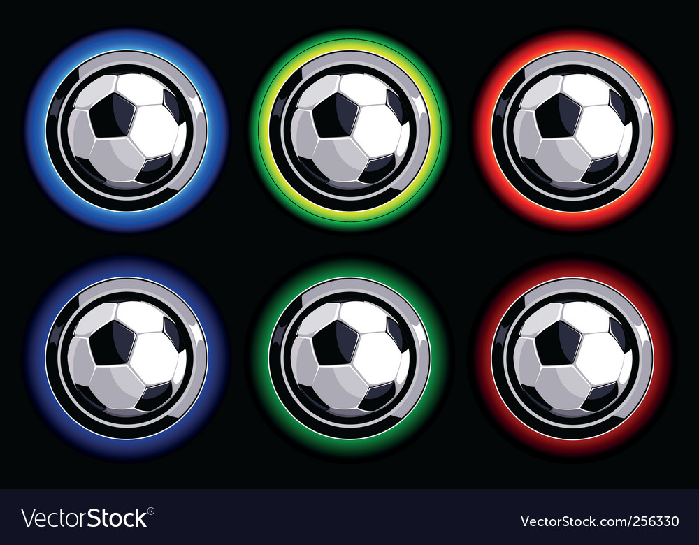 Soccer buttons vector | Price: 1 Credit (USD $1)