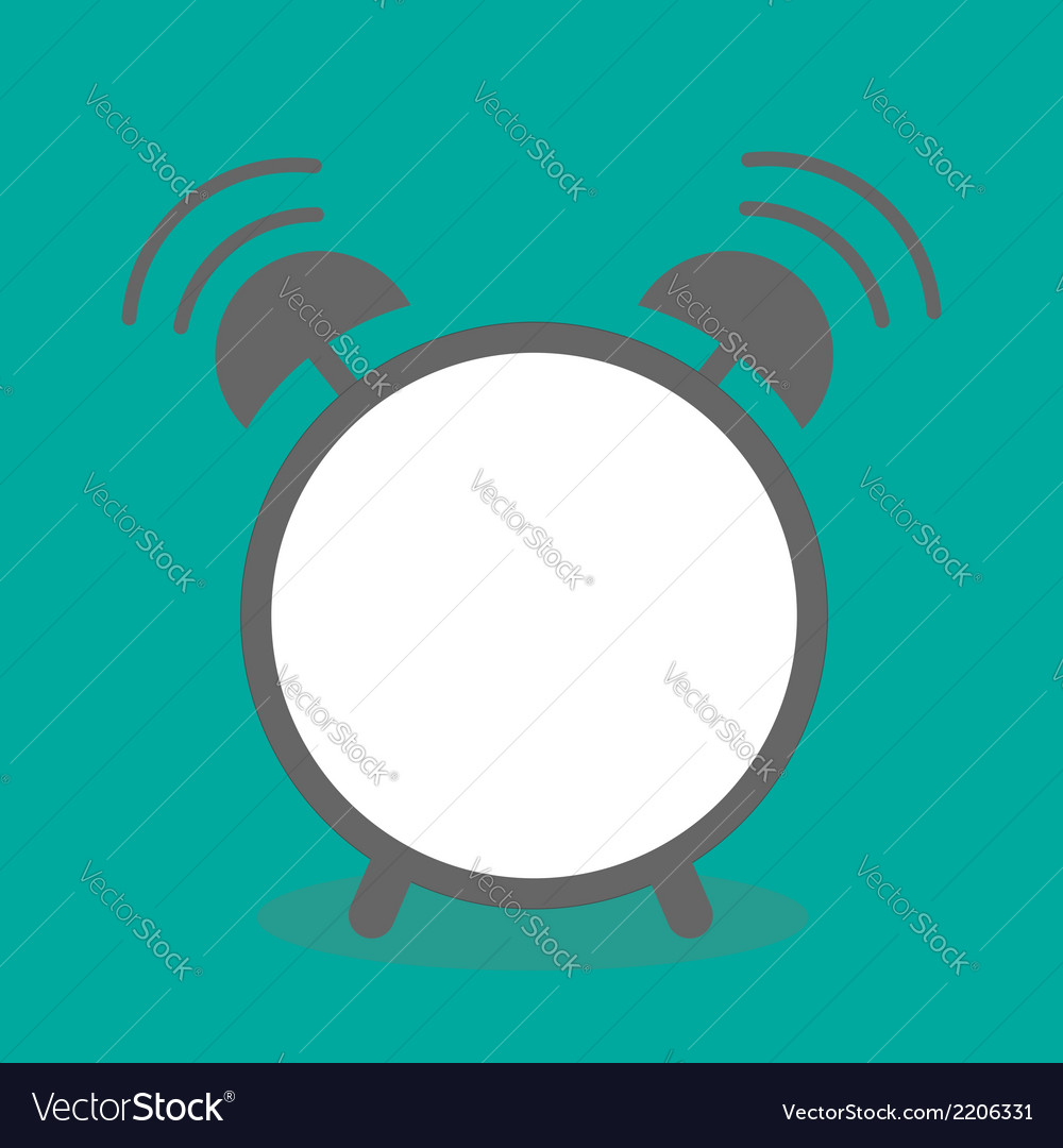 Alarm clock with empty center template flat design vector | Price: 1 Credit (USD $1)
