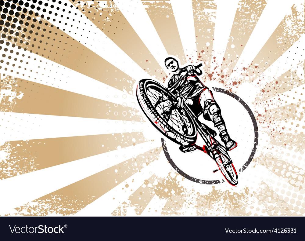 Biker poster vector | Price: 3 Credit (USD $3)