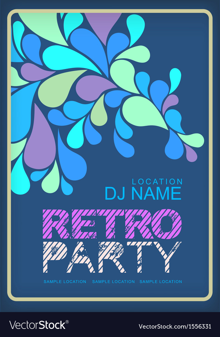 Disco poster vector | Price: 1 Credit (USD $1)