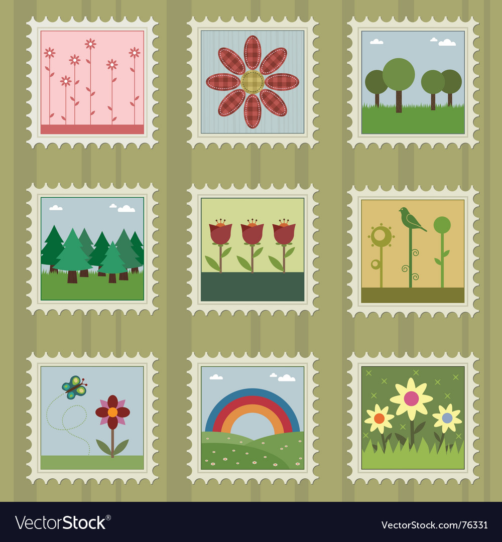 Nature stamps vector | Price: 3 Credit (USD $3)