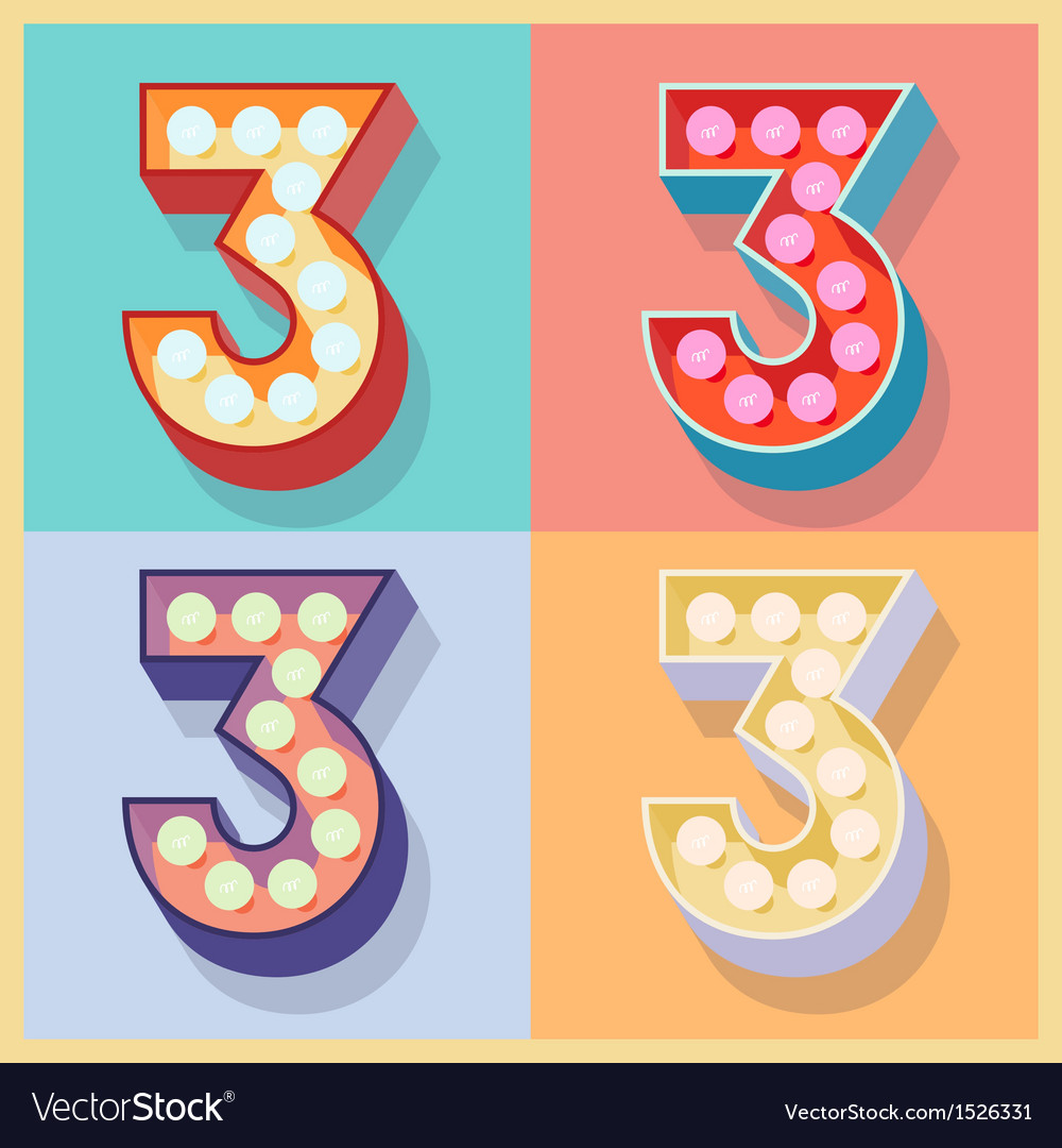 Number 3 vector | Price: 1 Credit (USD $1)