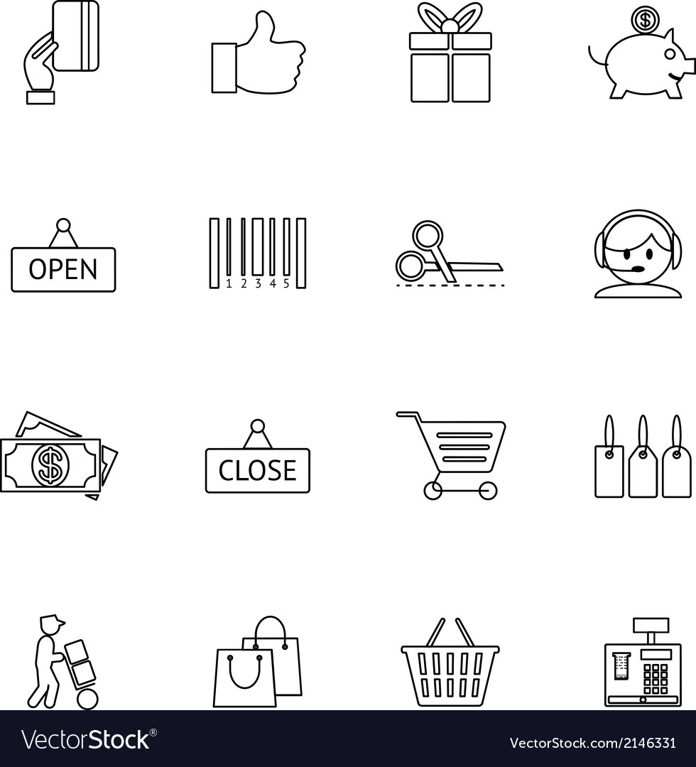 Purchase icons vector | Price: 1 Credit (USD $1)