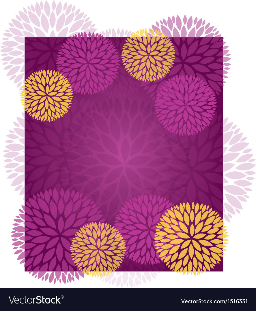 Purple gold abstract flower background vector | Price: 1 Credit (USD $1)
