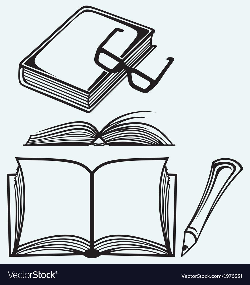 School textbooks vector | Price: 1 Credit (USD $1)
