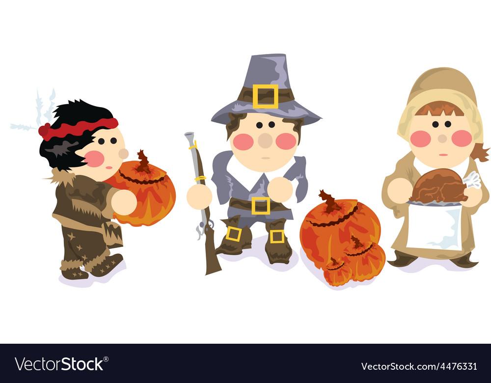 Thanksgiving cartoon vector | Price: 1 Credit (USD $1)