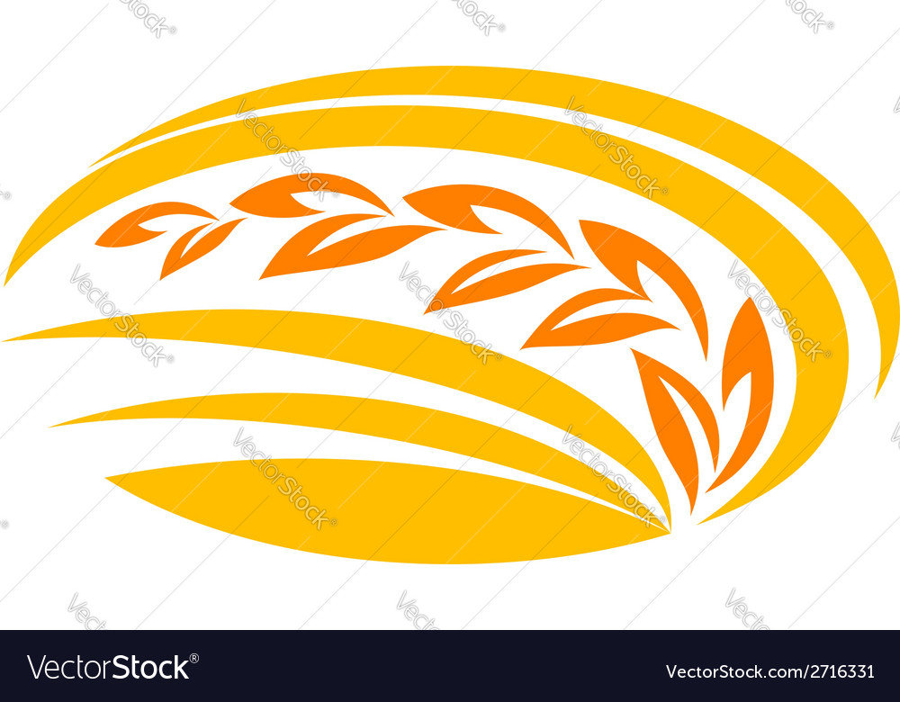 Wheat cereal symbol vector | Price: 1 Credit (USD $1)