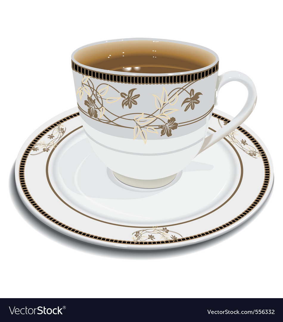 Cup with tea vector | Price: 1 Credit (USD $1)