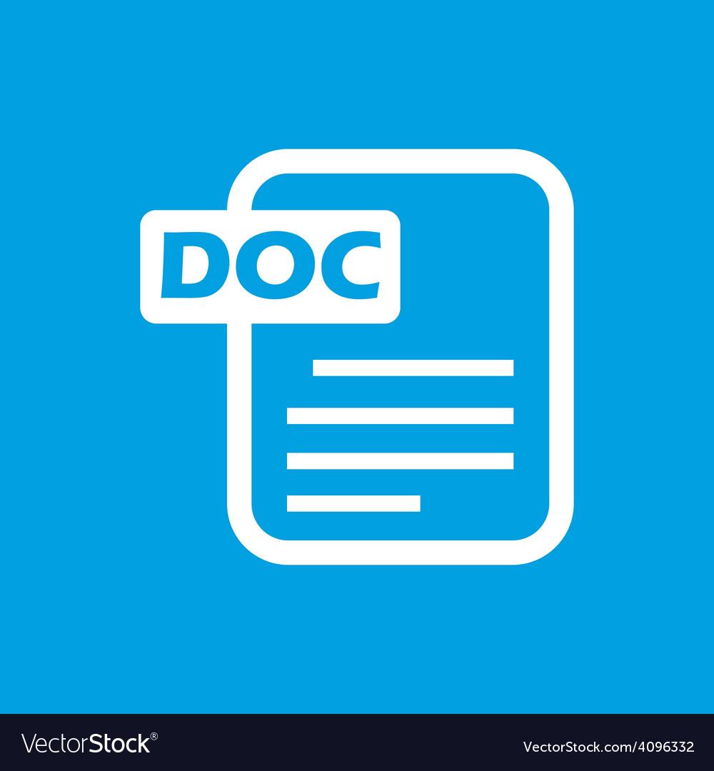 Doc white icon vector   Price: 1 Credit (USD $1)