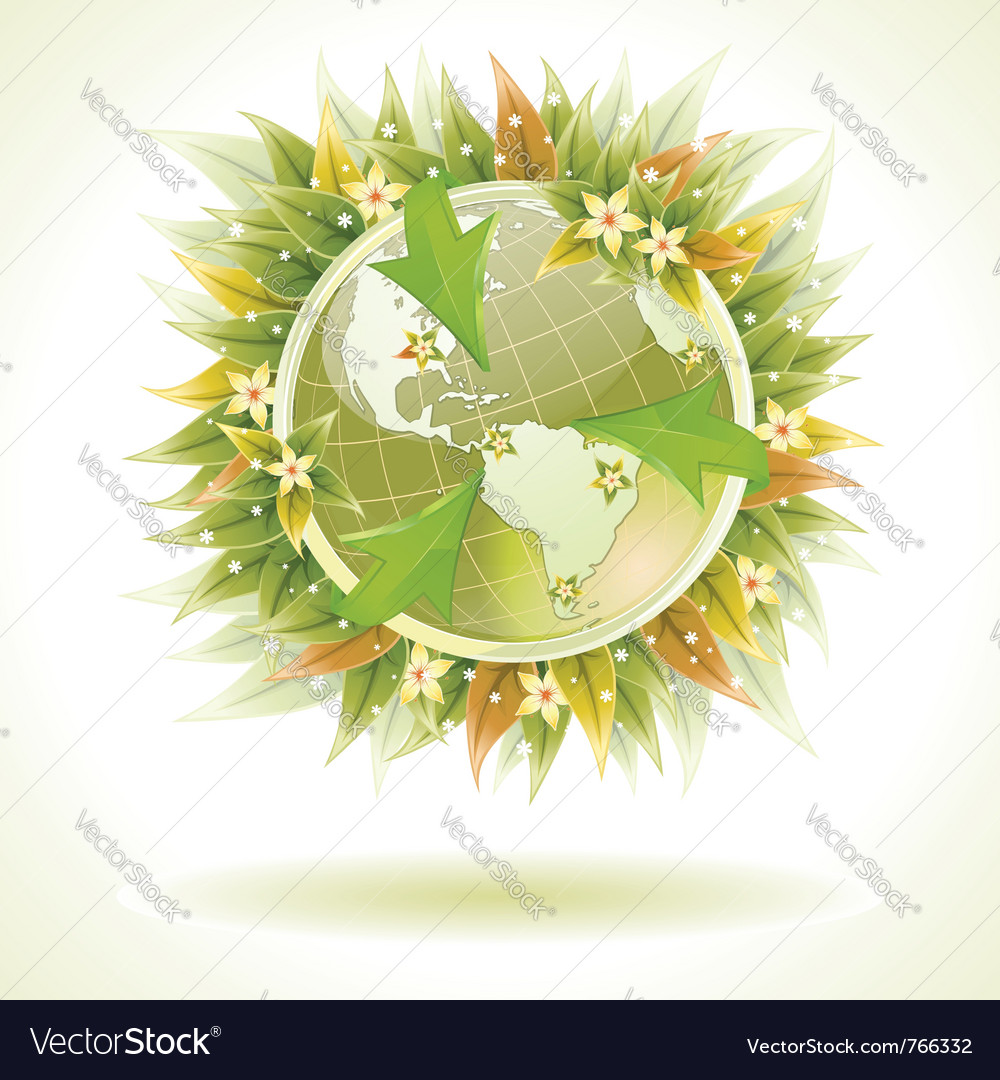 Environmentally friendly earth vector | Price: 1 Credit (USD $1)