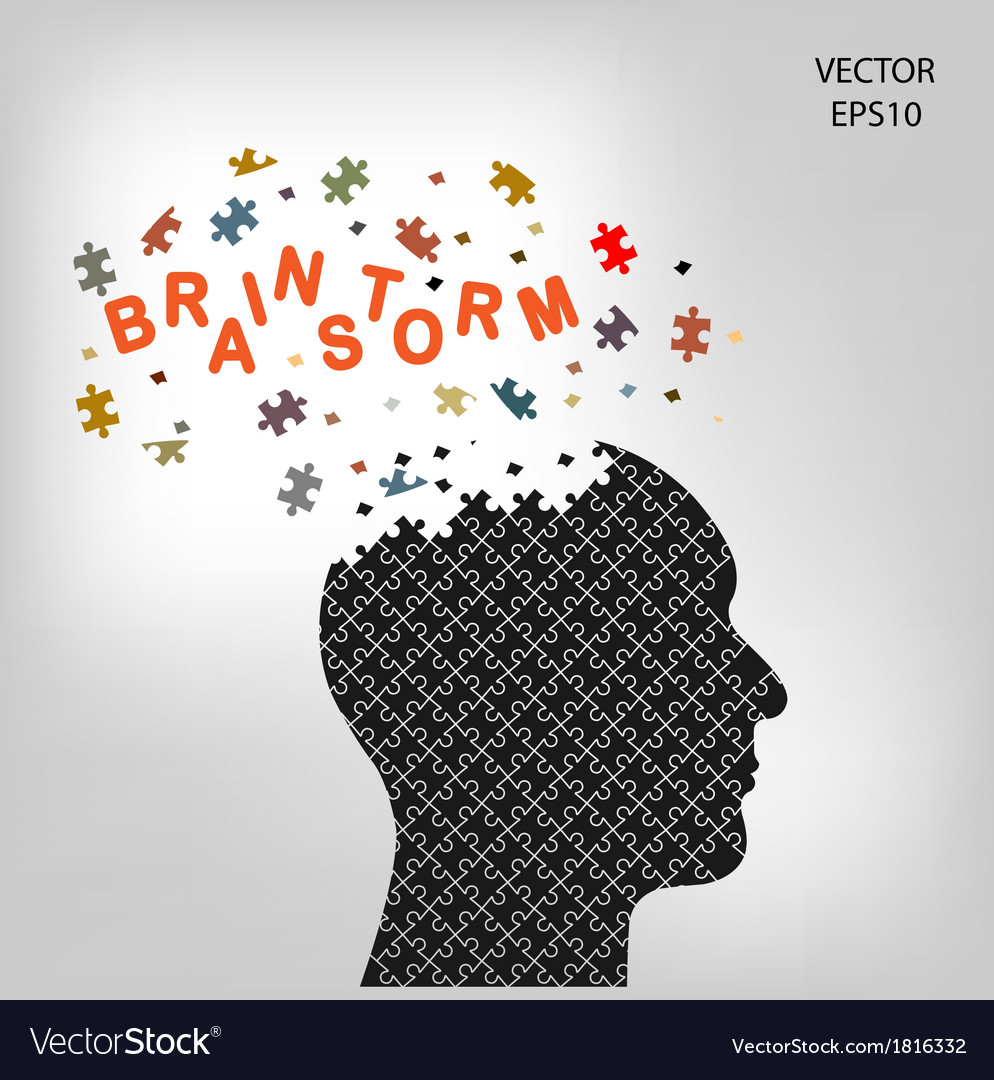 Head brainstorm vector | Price: 1 Credit (USD $1)