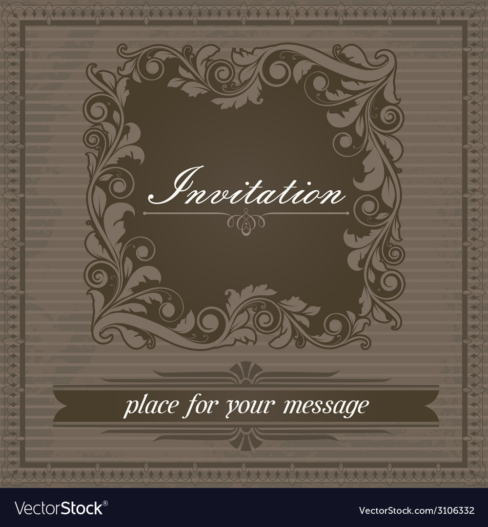 Invitation design template vector | Price: 1 Credit (USD $1)