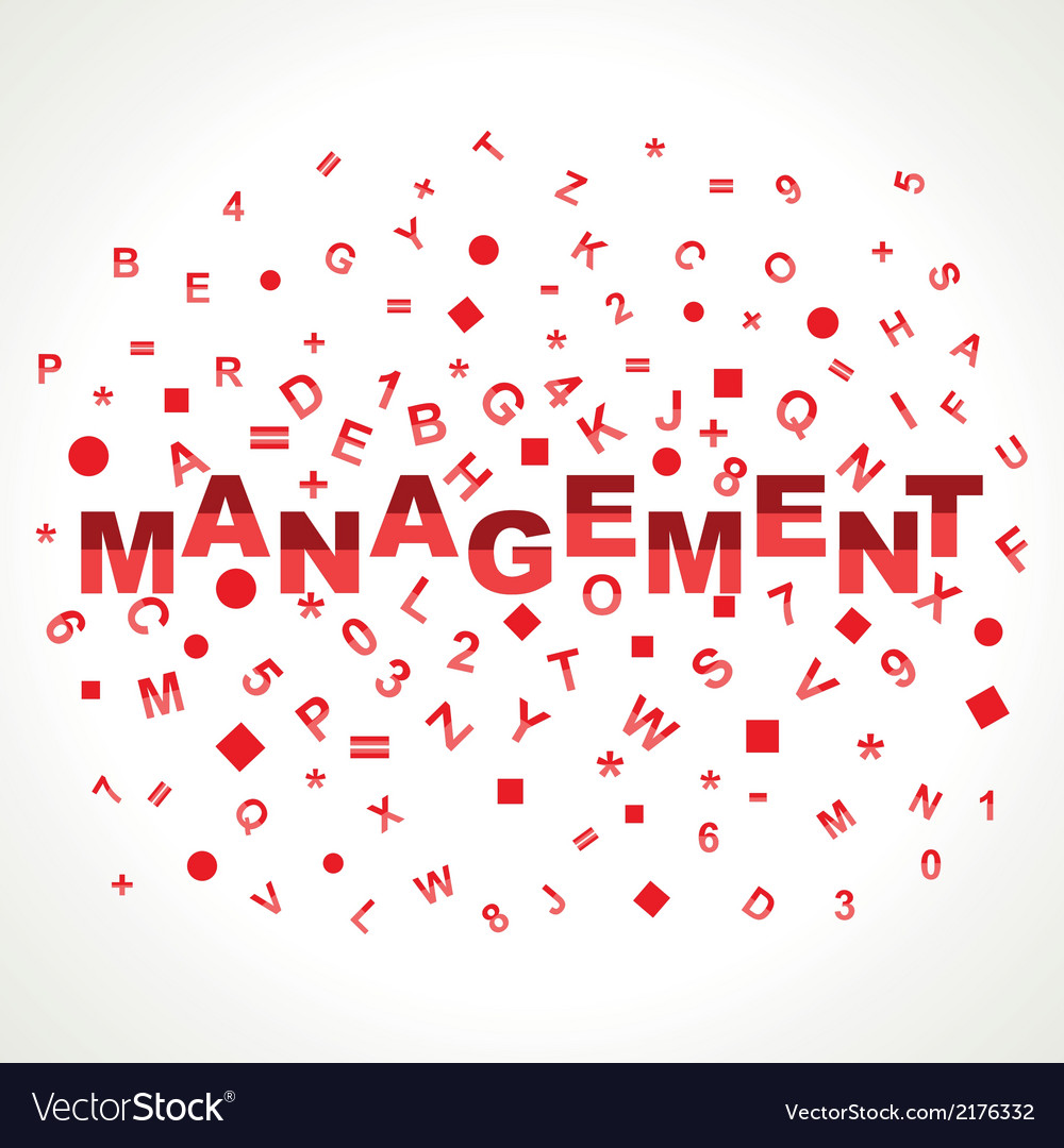 Management word with in alphabets vector | Price: 1 Credit (USD $1)