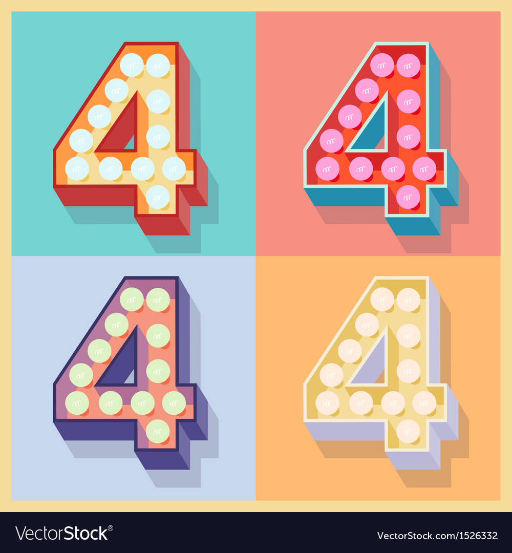 Number 4 vector | Price: 1 Credit (USD $1)