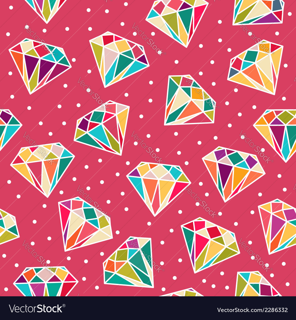 Seamless pattern with diamonds vector | Price: 1 Credit (USD $1)