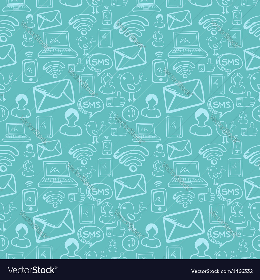 Social media cartoon icons pattern vector   Price: 1 Credit (USD $1)
