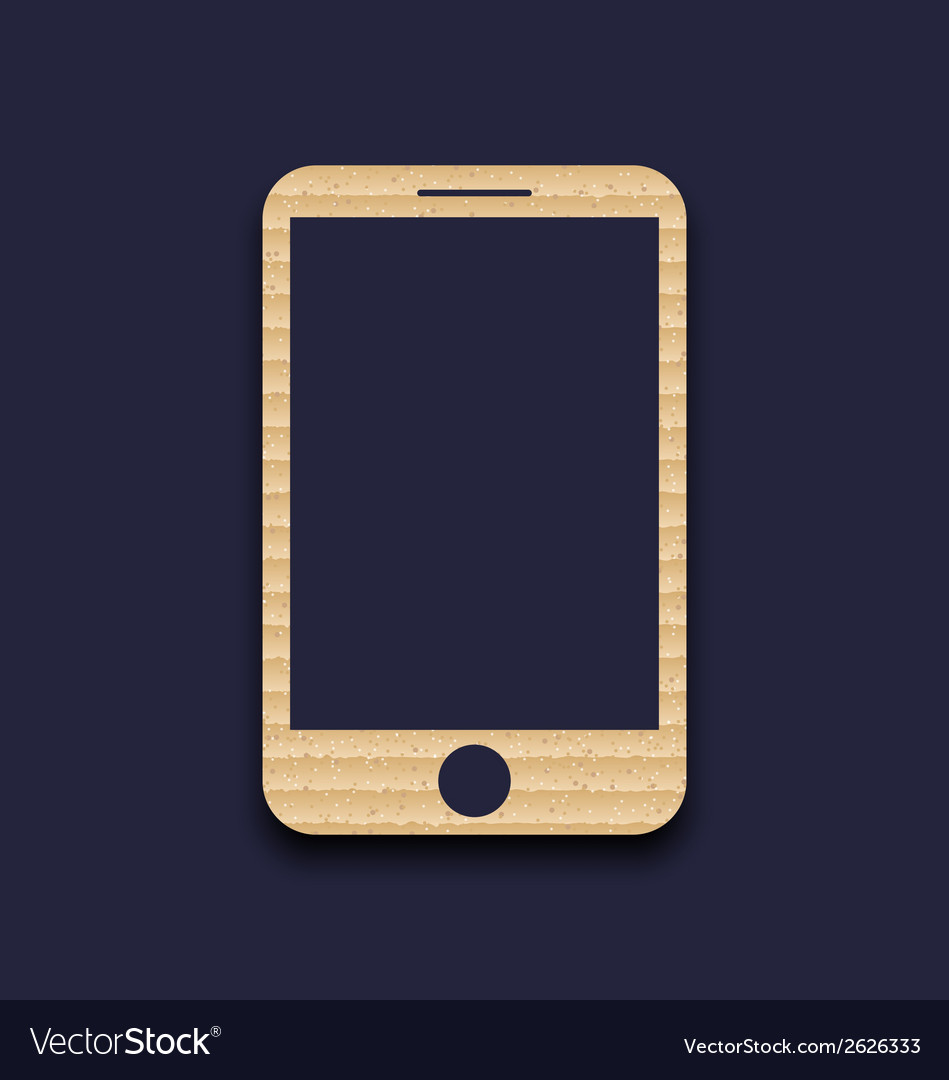 Abstract carton paper mobile phone with shadow vector | Price: 1 Credit (USD $1)