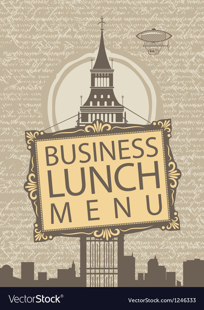 Business lunch vector | Price: 3 Credit (USD $3)