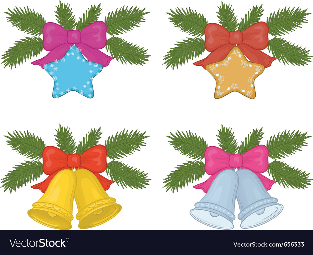 Christmas decorations set vector | Price: 1 Credit (USD $1)