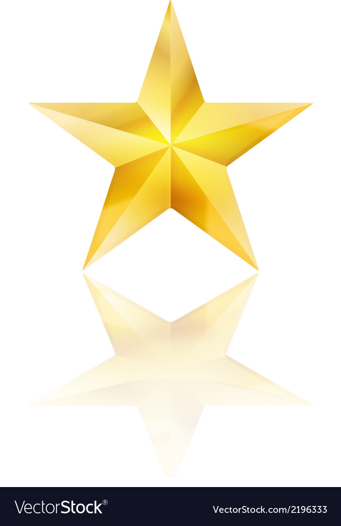 Golden star vector | Price: 1 Credit (USD $1)