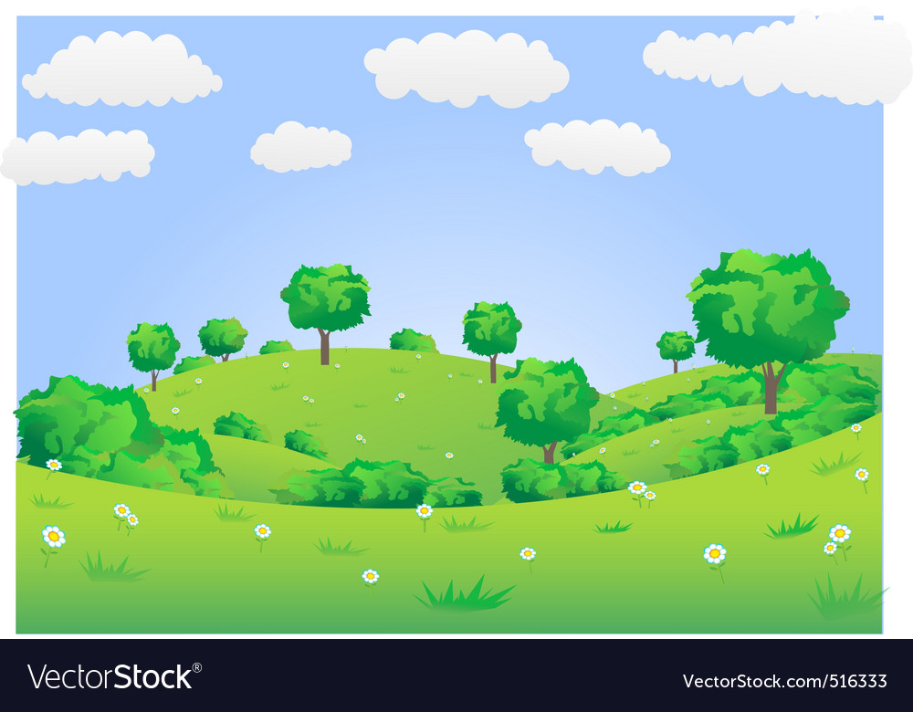 Green field vector | Price: 1 Credit (USD $1)