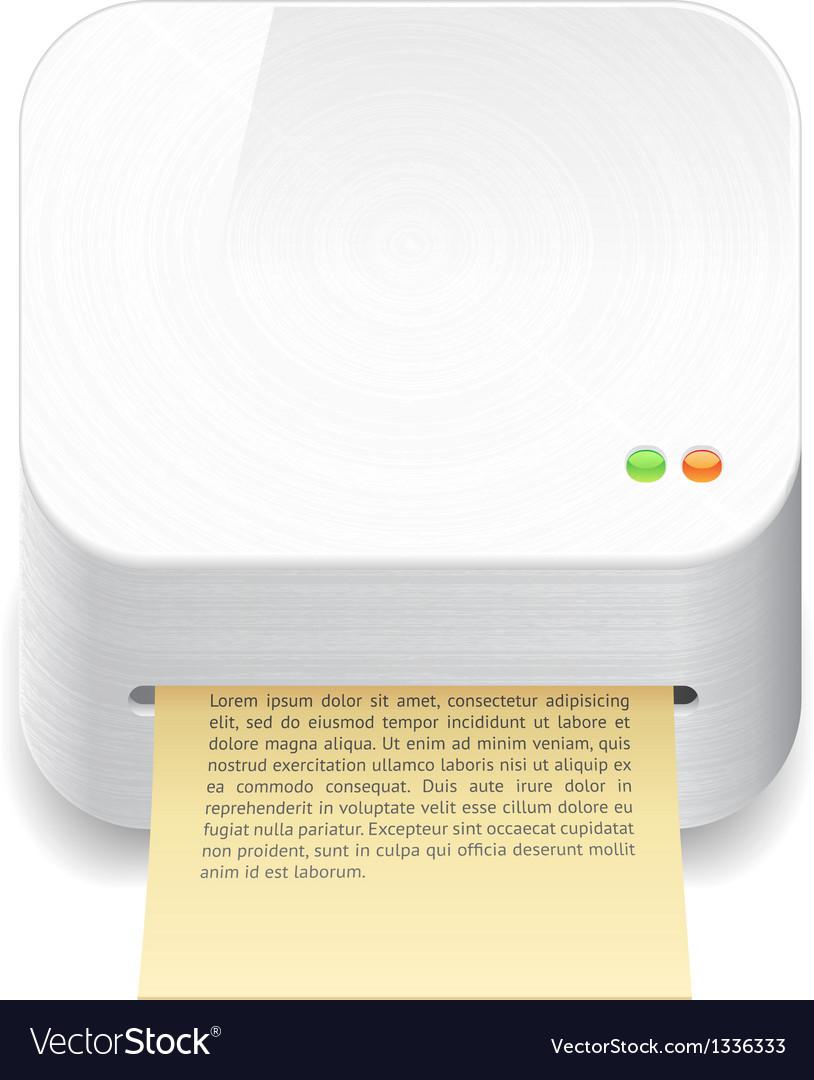 Icon for printer vector | Price: 1 Credit (USD $1)