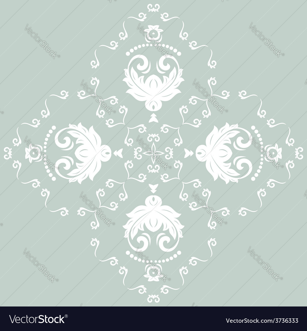 Orient pattern abstract ornament with blue vector | Price: 1 Credit (USD $1)