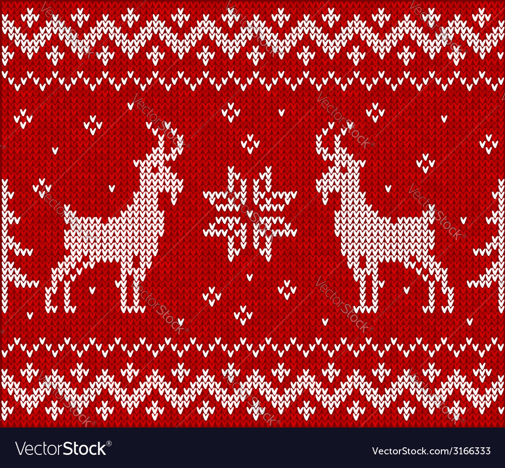 Red knit with goat seamless pattern tile vector | Price: 1 Credit (USD $1)