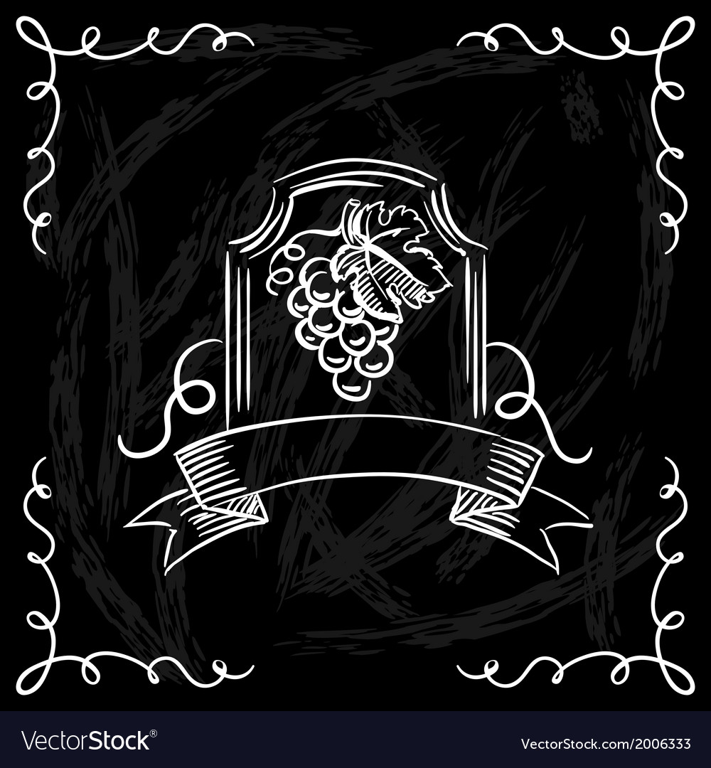 Restaurant or bar wine list on chalkboard vector | Price: 1 Credit (USD $1)
