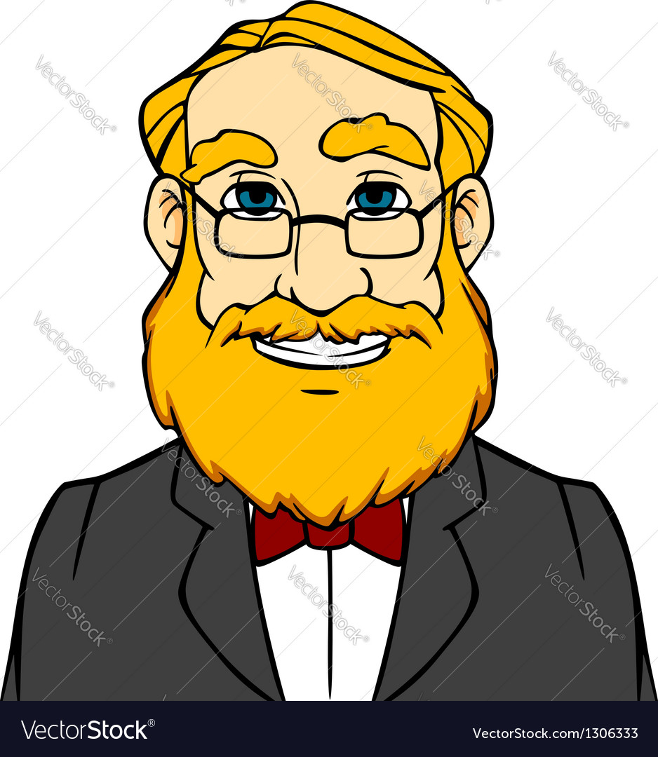 Smiling man with orange beard vector | Price: 3 Credit (USD $3)