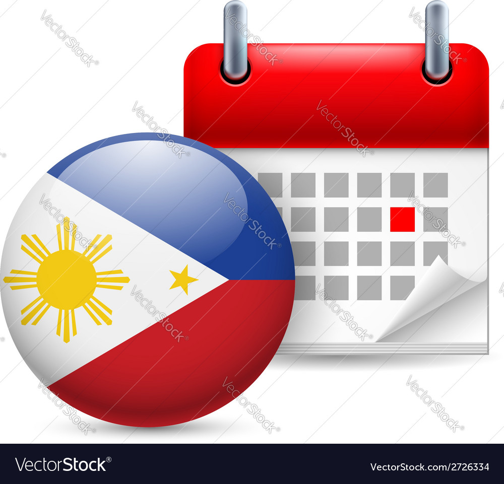 Icon of national day in philippines vector | Price: 1 Credit (USD $1)