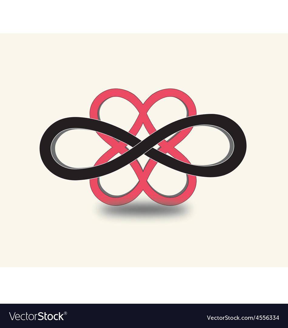Infinity heart symbols vector | Price: 1 Credit (USD $1)