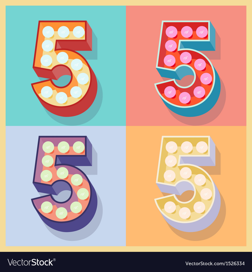 Number 5 vector | Price: 1 Credit (USD $1)